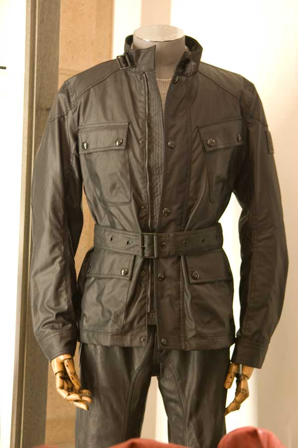 Men's S.Icon Steve McQueen Black Racing Waxed Jacket 19844