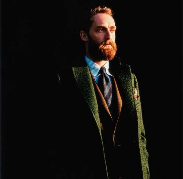 Green winter jacket for men