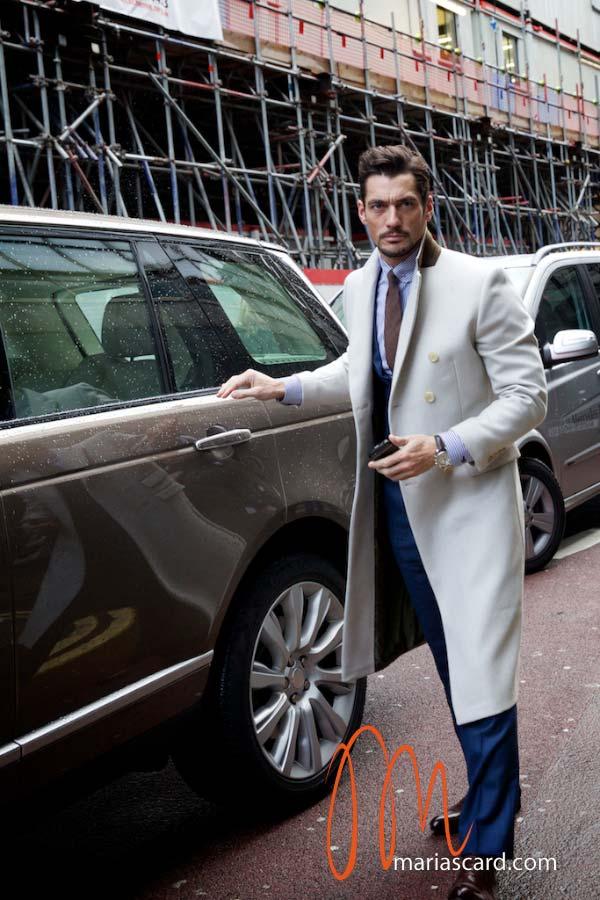 David Gandy - White Overcoat 2014