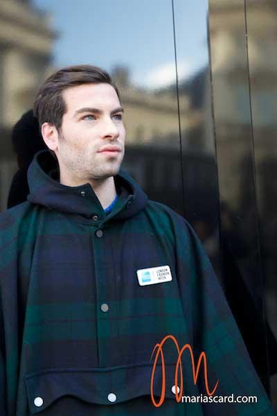 Christopher Raeburn - Tartan Cape for men at LFW 2014 American Express Collaberation
