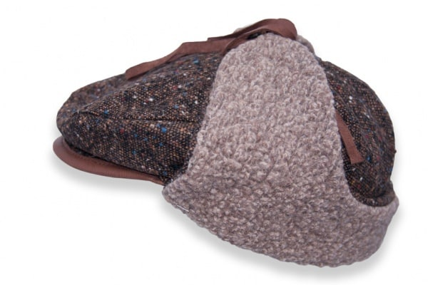 Drivers Cap - Tweed Wool Brown
