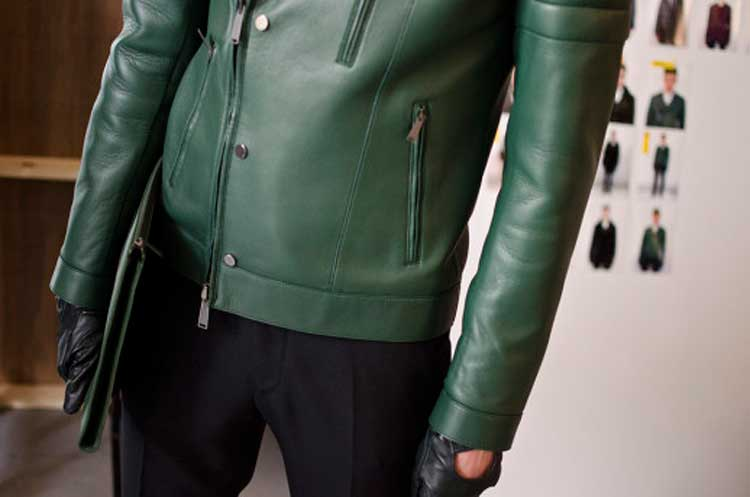 Kent Curwin 2014 Pleather Jacket Green (2)