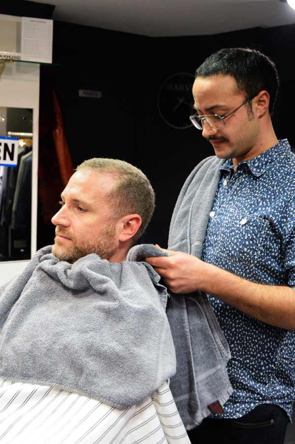 Getting ready for a men's shave