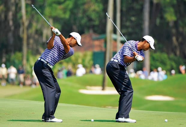 tiger woods squating for more power