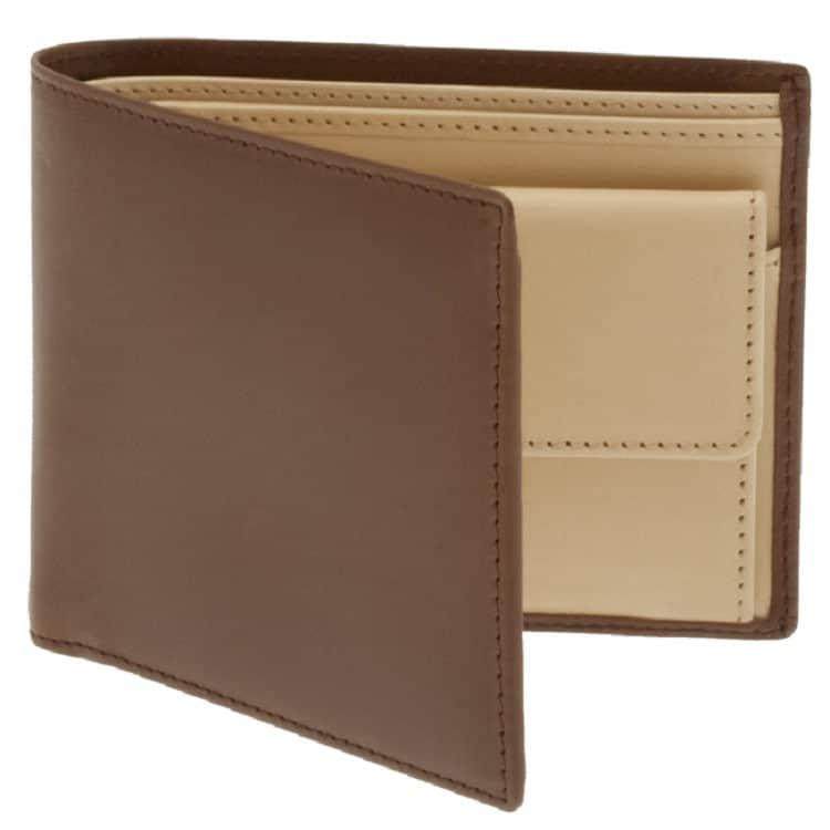 Pick of the pack: Saint Crispin bracken & eggshell 6 card wallet £216.67