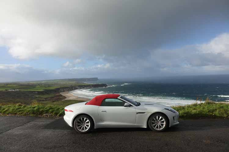 Jaguar F-type convertible causeway coastal Route Northern Ireland
