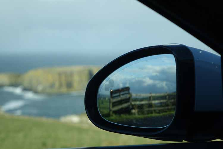 Jaguar F-type convertible side mirror with views