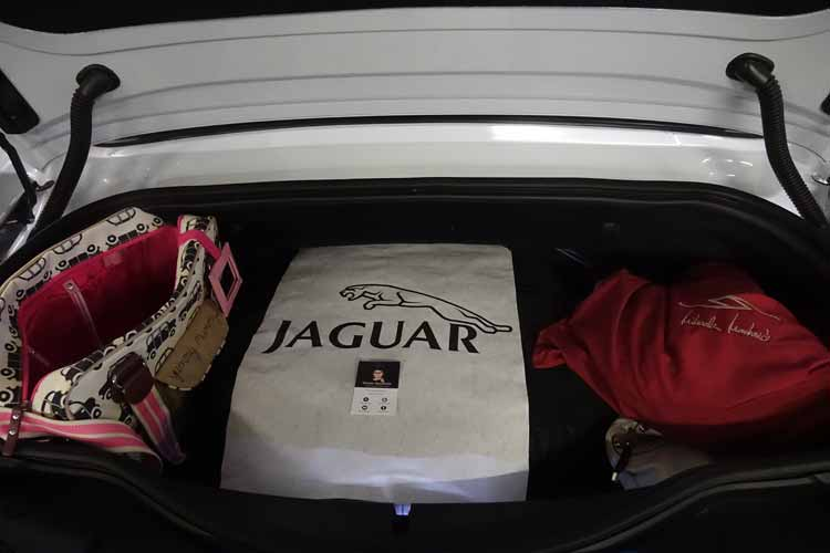 Jaguar F-type convertible boot space