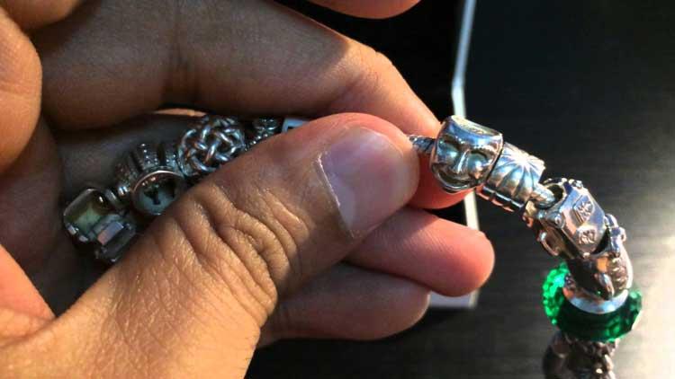 Wearing A Mandora Charm Bracelets For Men