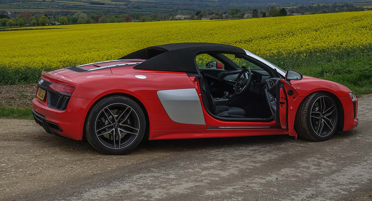 audi r8 spyder - why it's the people's sports car - men style fashion