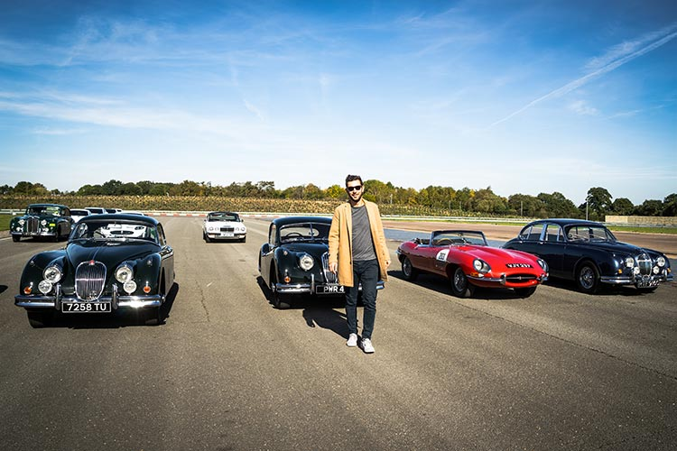 Gracie Opulanza Jaguar Classic Track day Coventry Thomas Kofkach camel jaket