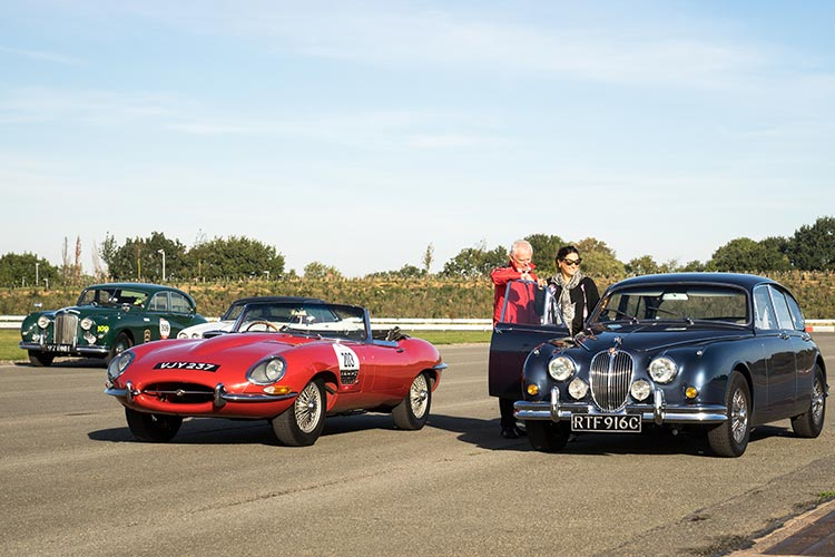 EType Jaguar classic car track day. Gracie Opulanza