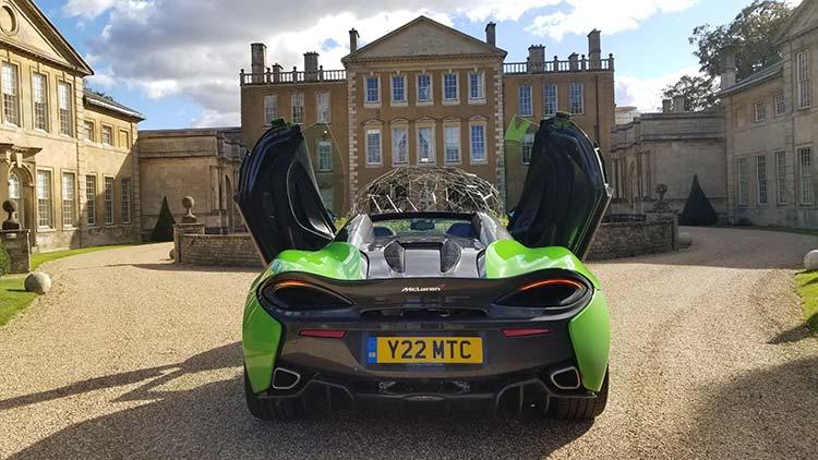 McLaren 570 Spyder Mantis Green Supercar Butterfly doors Oxfordshire