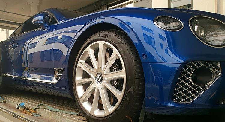 Bentley GT Continental Grand Tourer Blue Sequin