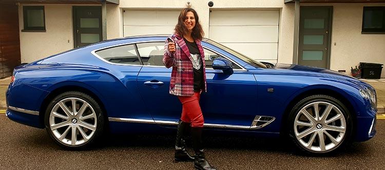 Bentley GT Continental Grand Tourer Gracie Opulanza Marccain Wool Jacket tartan