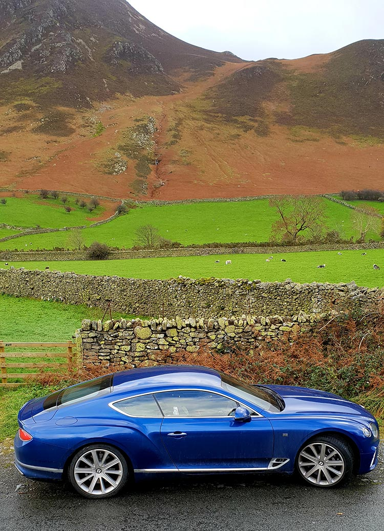 Bentley GT Continental - Grand Tourer Coupe Sequin Blue United Kingdom menstylefashion luxury car 2018 Lake District