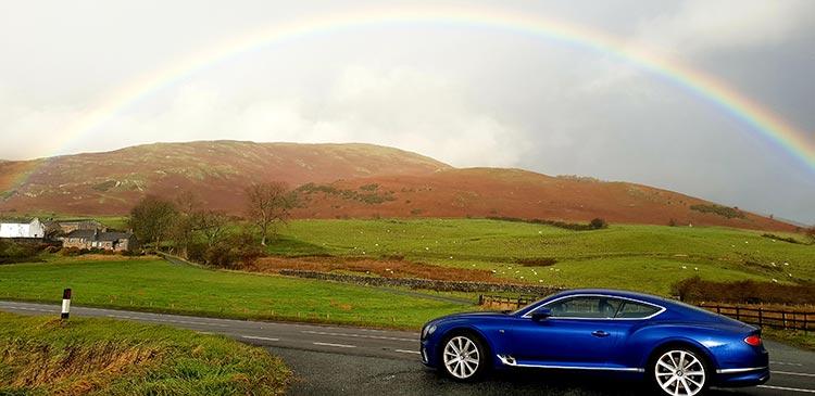 Bentley GT Continental - Grand Tourer Coupe Sequin Blue United Kingdom menstylefashion luxury car 2018 Rainbow