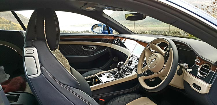 Bentley GT Continental - Grand Tourer Coupe Sequin Blue United Kingdom menstylefashion luxury car 2018 Leather Hide