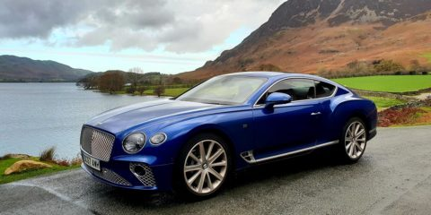 Bentley GT Continental - Grand Tourer Coupe Sequin Blue United Kingdom menstylefashion luxury car 2018 Lake District United Kingdom