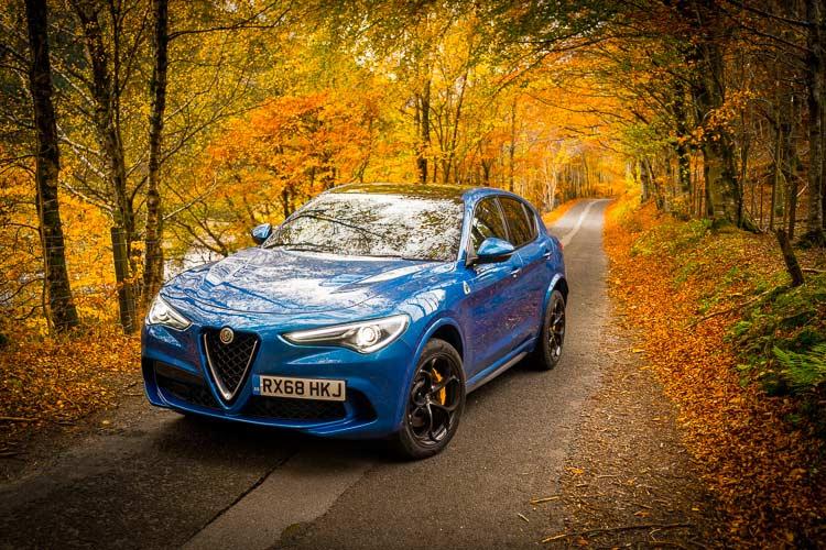 Stelvio Quadrifoglio Alfa Romeo SUV MenSyleFashion Scotland nature