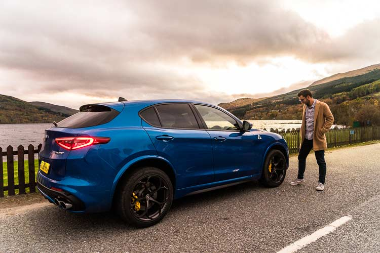 Stelvio Quadrifoglio Alfa Romeo SUV MenSyleFashion Scotland fashion