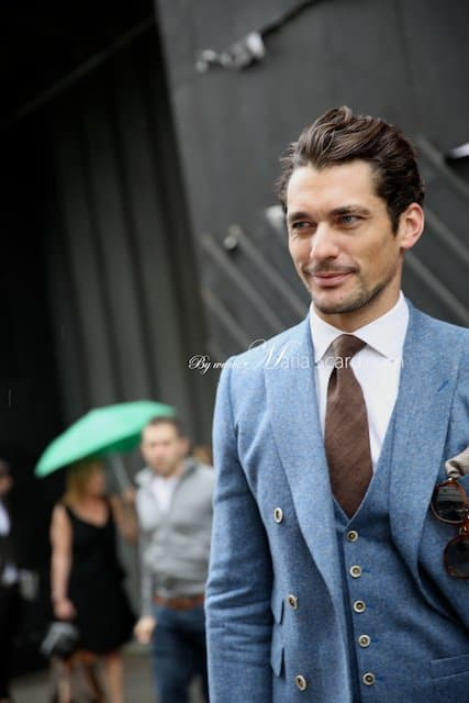 David Gandy three piece suit